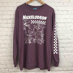 Nickelodeon Characters Purple L/S Tee New